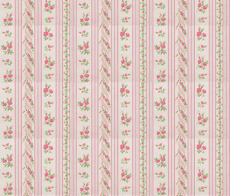 Pink Dawn ~ La Chere Petite Dauphine fabric by peacoquettedesigns on Spoonflower - custom fabric