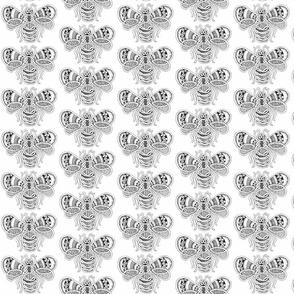 BeeHappy - med - black & white