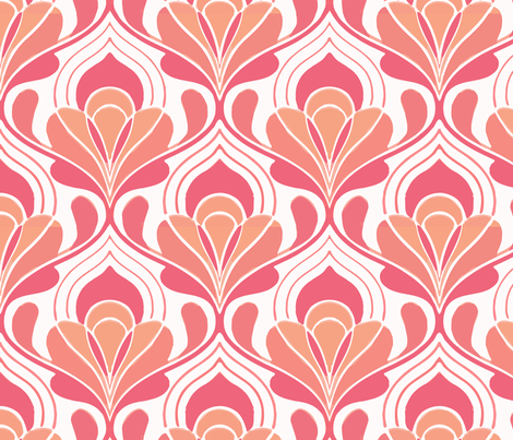 taj mahal red fabric by myracle on Spoonflower - custom fabric