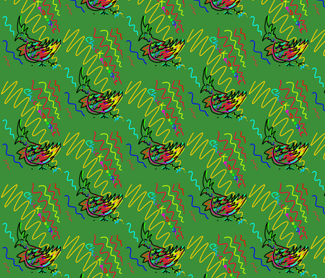 chickadoodle fabric by jellybeanquilter on Spoonflower - custom fabric