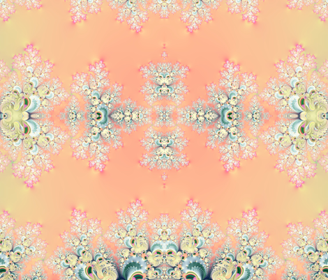 Fractal: Frosty Sunrise fabric by artist4god on Spoonflower - custom fabric