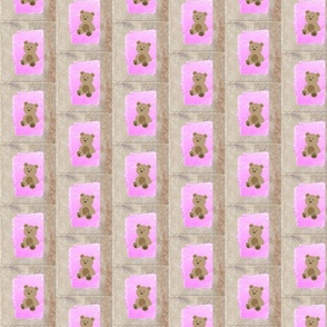Baby Teddy  bear quilt blocks