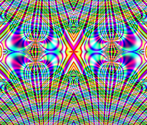 Fractal: Rainbow Plaid Swirled
