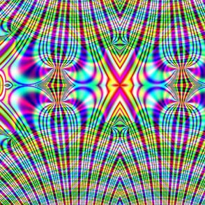 Fractal: Rainbow Plaid Swirled