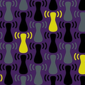 Wireless Network Zigzag Purple Grey