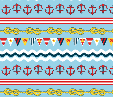 Nautical Stripe fabric by halfaringcircus on Spoonflower - custom fabric