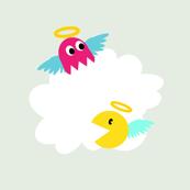8Bit Heaven - Angelic Chompa Chompa & Pinkster Ghosty  - Cloudy Chase! - © PinkSodaPop 4ComputerHeaven.com