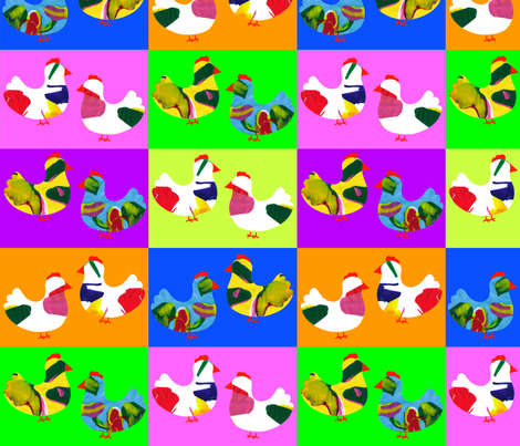 spinner_chicken fabric by rcmj on Spoonflower - custom fabric