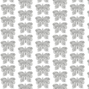 ButterflyFlutterby - med - black & white