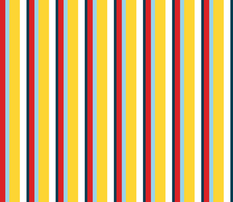 Three Boats Vertical Stripes fabric by saartje on Spoonflower - custom fabric