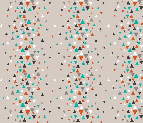 TRI_RAND_teal_orange fabric by glorydaze on Spoonflower - custom fabric