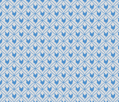 Diamond Hen blue fabric by mayacoa on Spoonflower - custom fabric