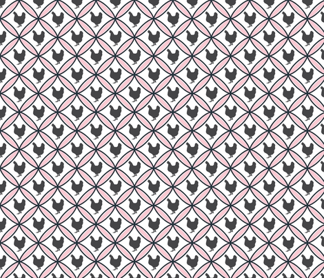 Diamond hen pink fabric by mayacoa on Spoonflower - custom fabric