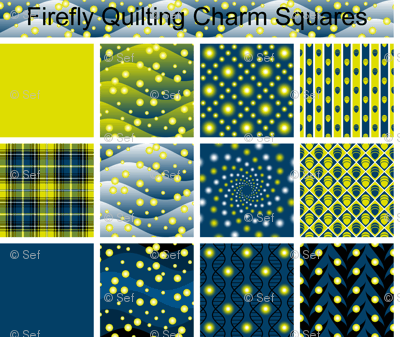 firefly quilting charm squares