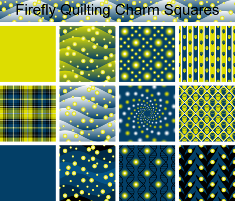 firefly quilting charm squares fabric by sef on Spoonflower - custom fabric