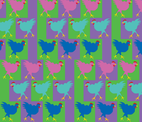 chickenscrossing fabric by snap-dragon on Spoonflower - custom fabric