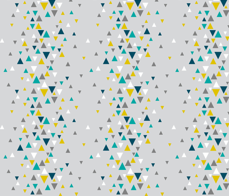 TRI_RAND_blue_yellow2 fabric by glorydaze on Spoonflower - custom fabric