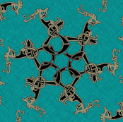 Viking Pattern turqois 2