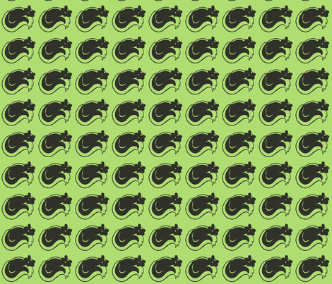 My Friend Stinky in Lime Green fabric by kbexquisites on Spoonflower - custom fabric