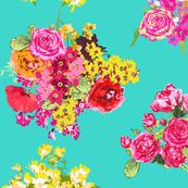 aqua turquoise flowers