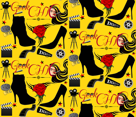 GEEK CHIC IN HOLLYWOOD fabric by bluevelvet on Spoonflower - custom fabric