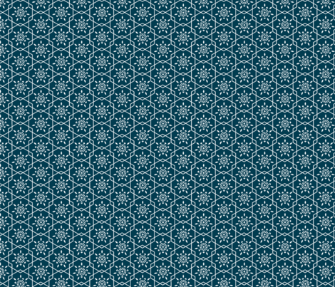 Daily flower in Navy fabric by mayacoa on Spoonflower - custom fabric