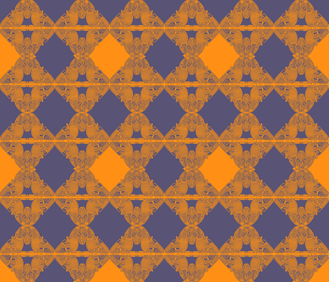 celtic birds purple and orange fabric by susiprint on Spoonflower - custom fabric