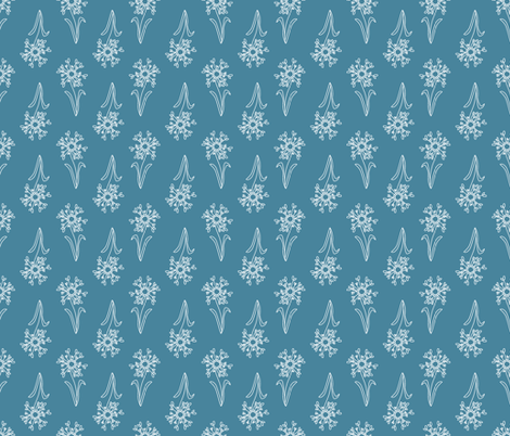 DAISY_BLUE fabric by pfeiffer on Spoonflower - custom fabric