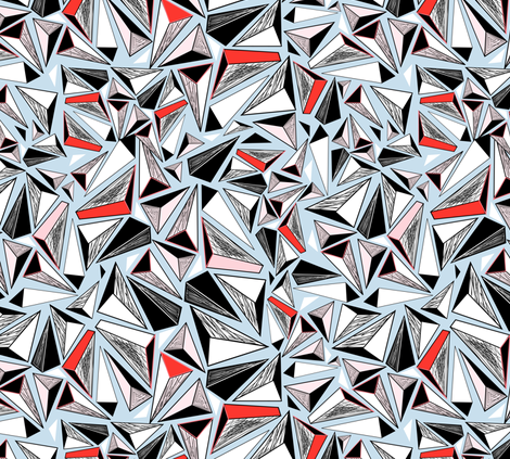 graphic pattern of triangles