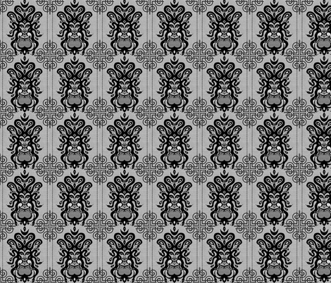 Medusa's Damask fabric by marchhare on Spoonflower - custom fabric