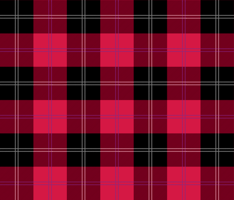 Ramsay Tartan in Red fabric by elramsay on Spoonflower - custom fabric