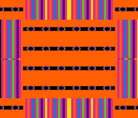 Rainbow Blocks on Orange fabric by anniedeb on Spoonflower - custom fabric