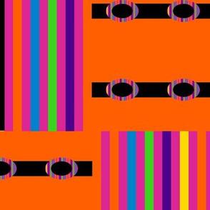 Rainbow Blocks on Orange