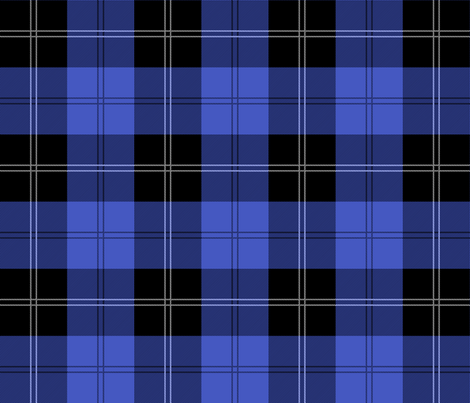 Ramsay Hunting Tartan in Blue fabric by elramsay on Spoonflower - custom fabric