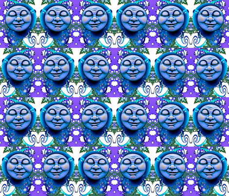 Blue Moon fabric by whimzwhirled on Spoonflower - custom fabric