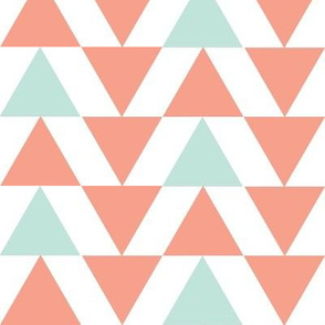 mint and salmon triangles