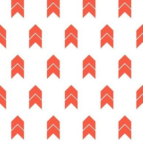 Dark coral and white chevron