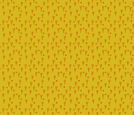 phi-forest-mustard fabric by blotchandthrum on Spoonflower - custom fabric
