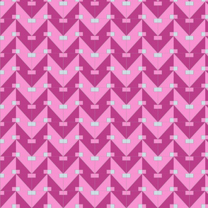 pythagorean chevron pink