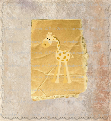 baby giraffe quilt blocks