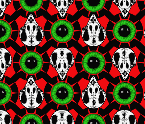Day of the Zombie Chickens fabric by keweenawchris on Spoonflower - custom fabric