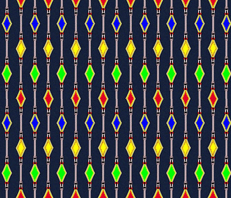 Zipper fabric by retroretro on Spoonflower - custom fabric