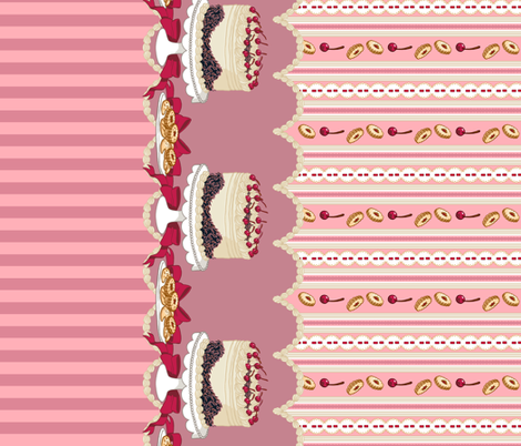 Black Forest Cake (Pink) fabric by aimee on Spoonflower - custom fabric