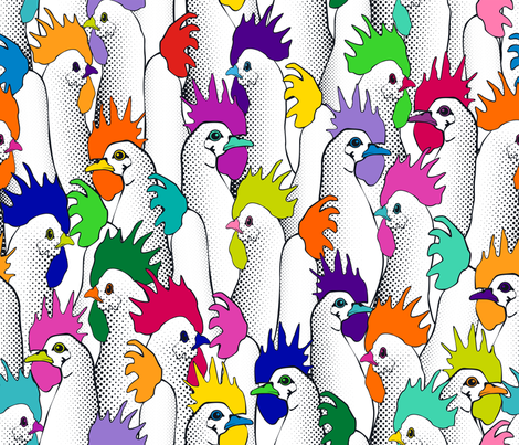 Chicken POPs fabric by juliesfabrics on Spoonflower - custom fabric