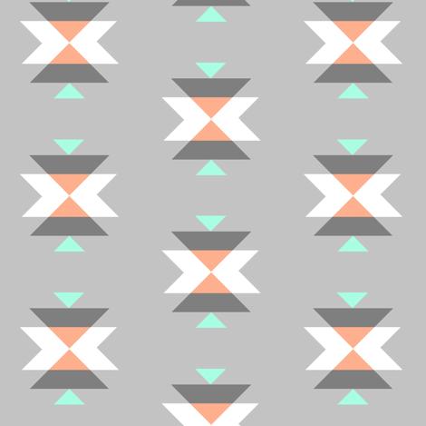 tribal grey fabric by >>mintpeony<< on Spoonflower - custom fabric