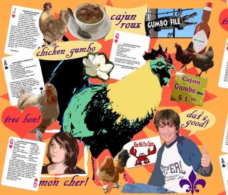 cajun chicken-enlarged fabric by mjim21 on Spoonflower - custom fabric