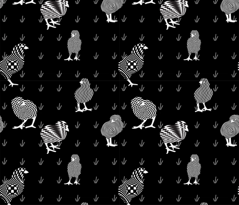 Peep Art fabric by greenmyeyes on Spoonflower - custom fabric