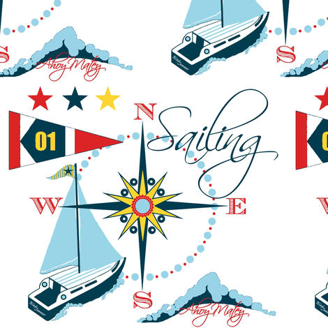 Ahoy Matey fabric by paragonstudios on Spoonflower - custom fabric