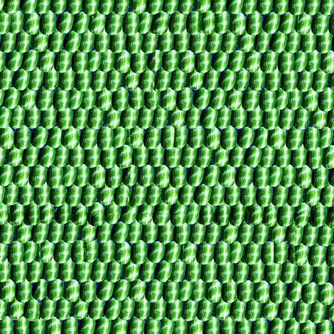 Green silver scales fabric by ladyfayne on Spoonflower - custom fabric