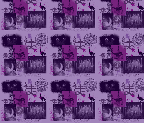 A Gothy Kinda Fabric fabric by eerie_doll on Spoonflower - custom fabric